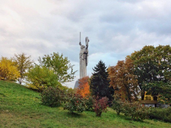 The Mother Motherland monument in Kiev.
