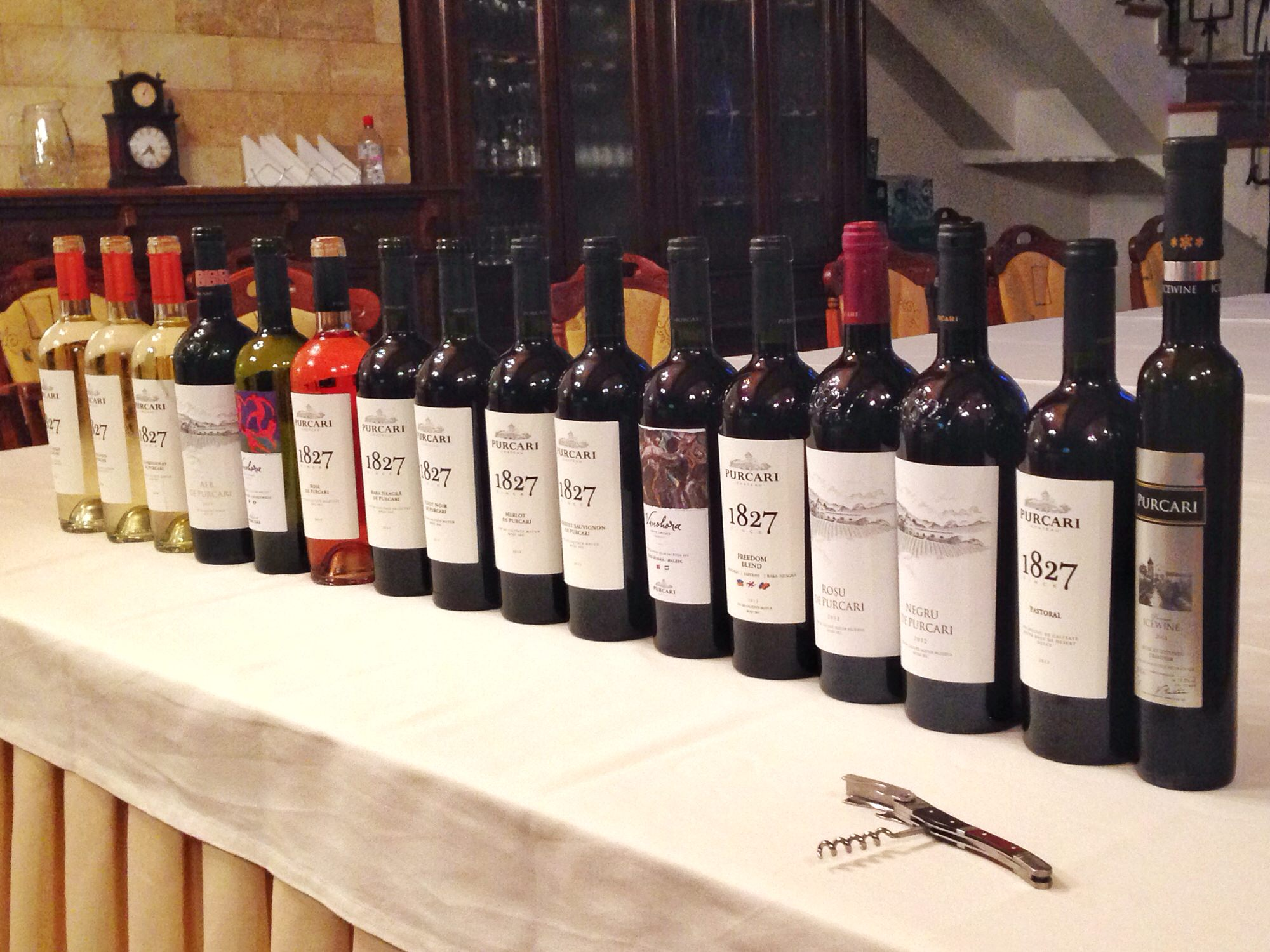 There are a lot of wines to taste -- Purcari has 16 on offer!