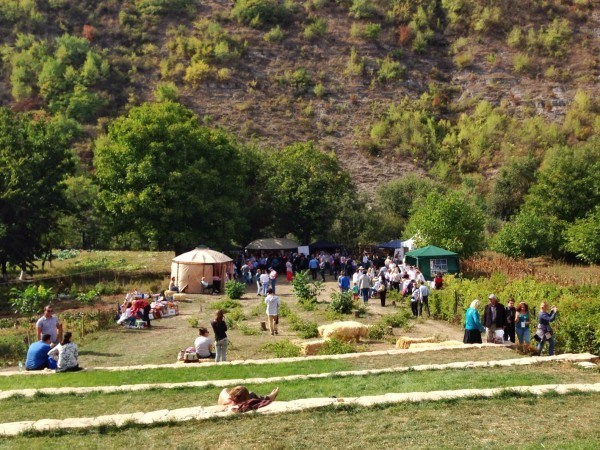Mini wine festival in Moldova