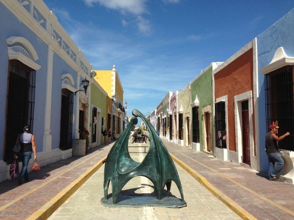 Campeche's beautiful streets.