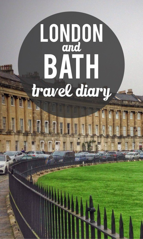 Bath and London pinterest pin