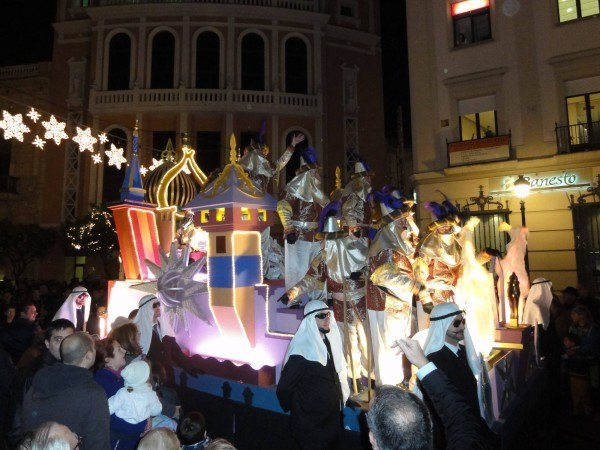 Christmas parade in Jerez, Spain