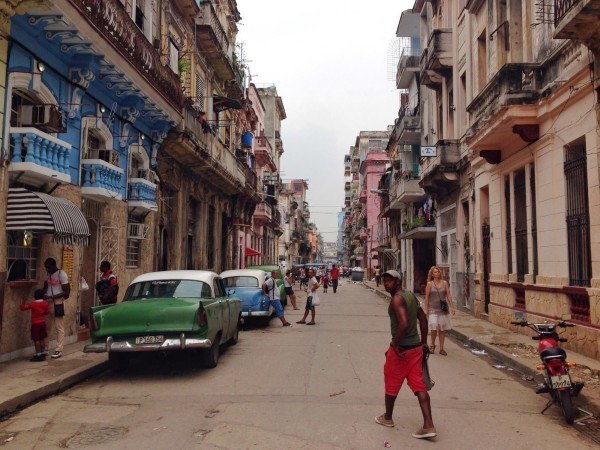 A typical Havana street.