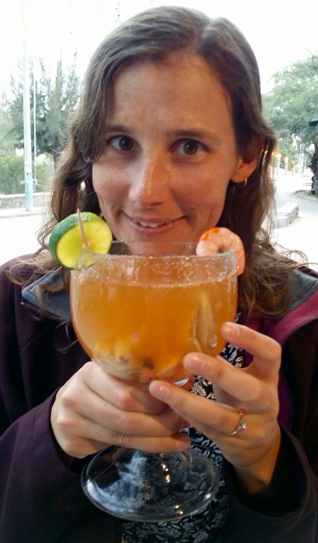 Linda and Michelada in San Miguel de Allende, Mexico