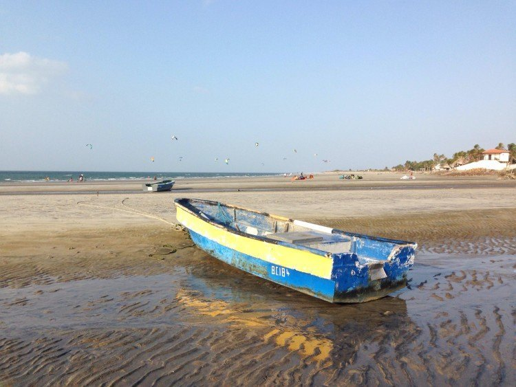 Boat on a beach in Punta Chame Panama