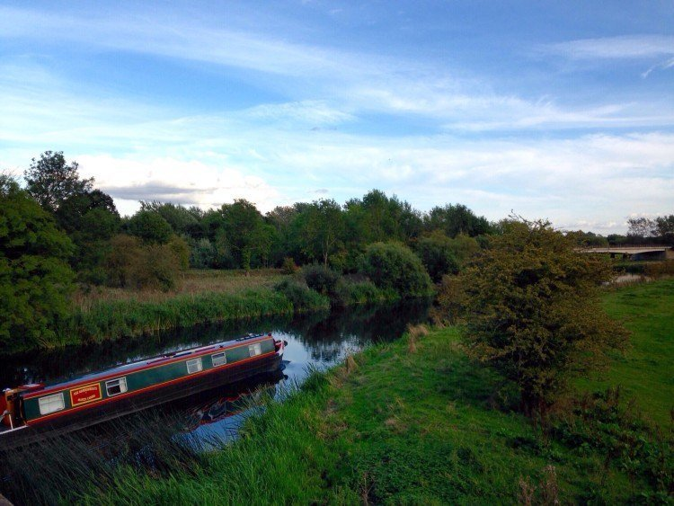 Canal boating in England