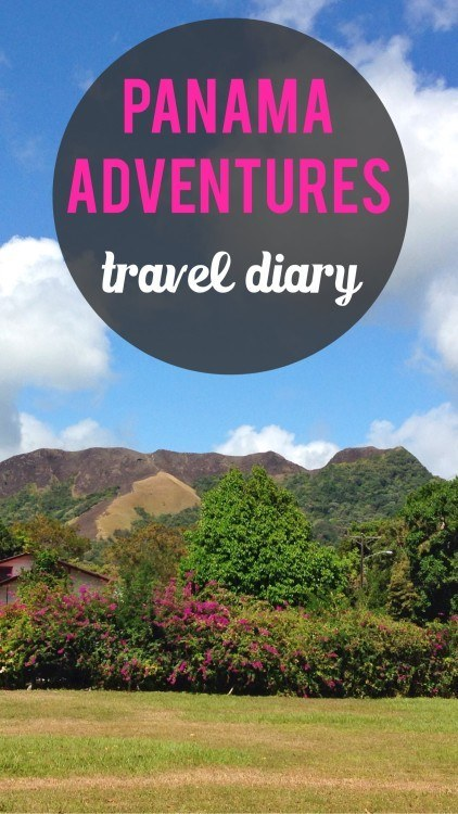 Panama travel diary pinterest pin