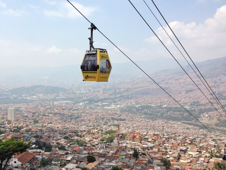 You can get great views of Medellin from above.