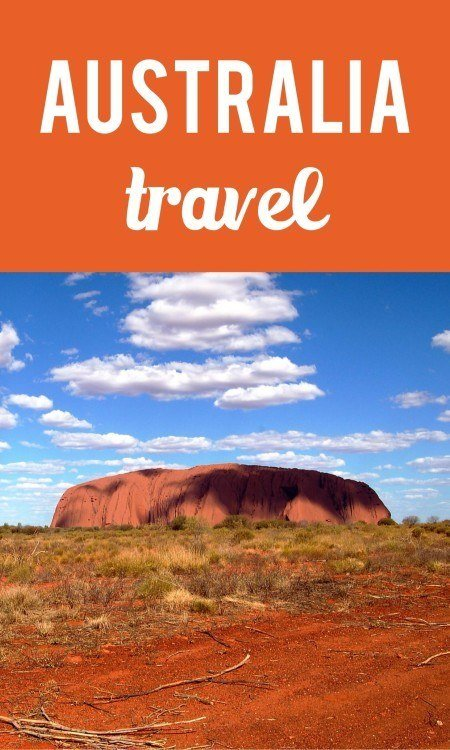 Australia travel pin
