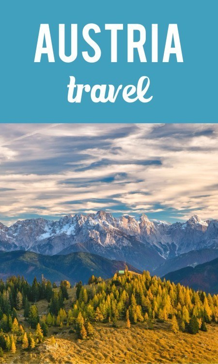 Austria travel pin