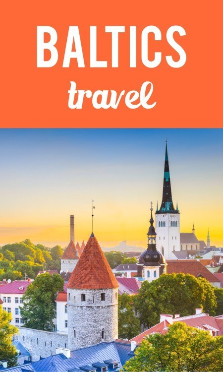 Baltics travel pin