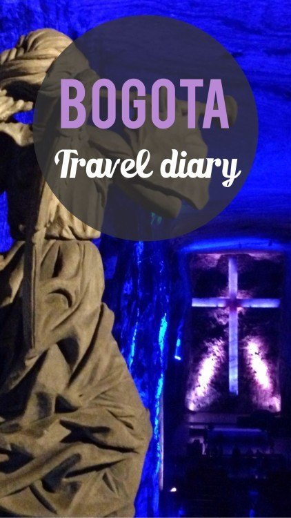 Bogota travel diary Pinterest pin