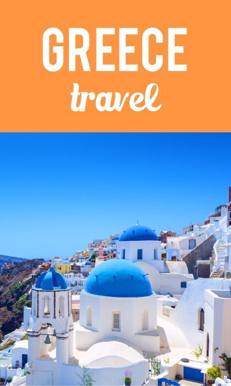 Greece travel pin