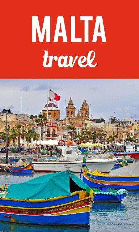 Malta travel pin