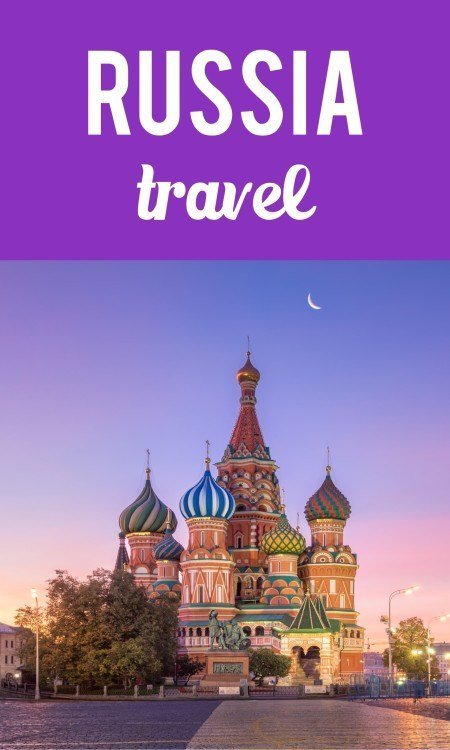 Russia travel Pinterest pin