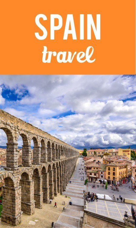 Spain travel Pinterest pin
