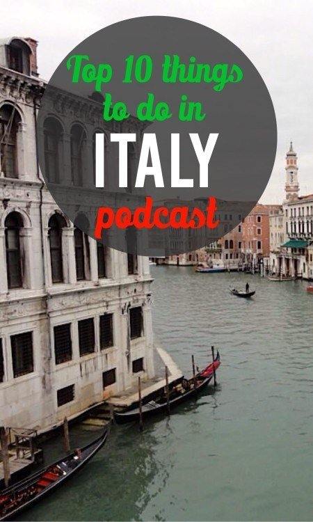 Top 10 Italy podcast Pinterest pin