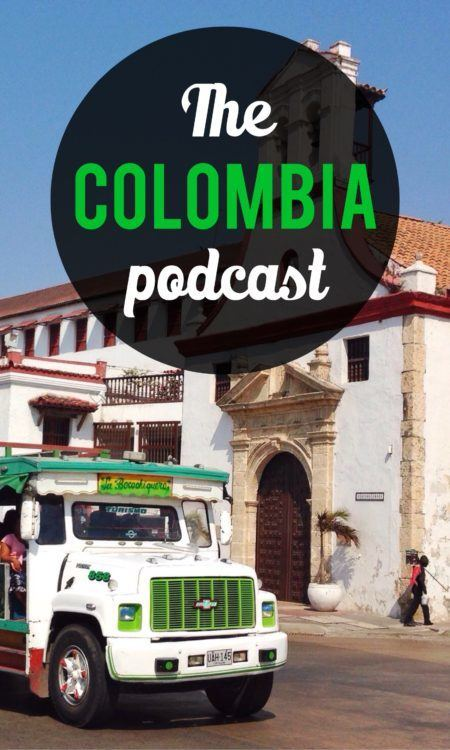 Colombia podcast pin