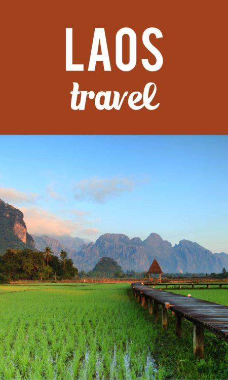 Laos travel Pinterest pin