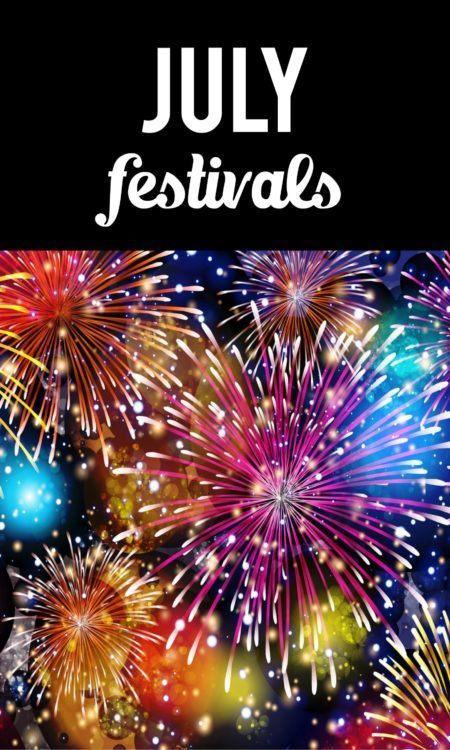 July festivals Pinterest pin