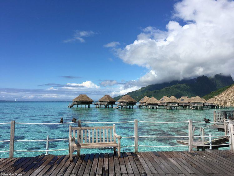 Tahiti water bungalows