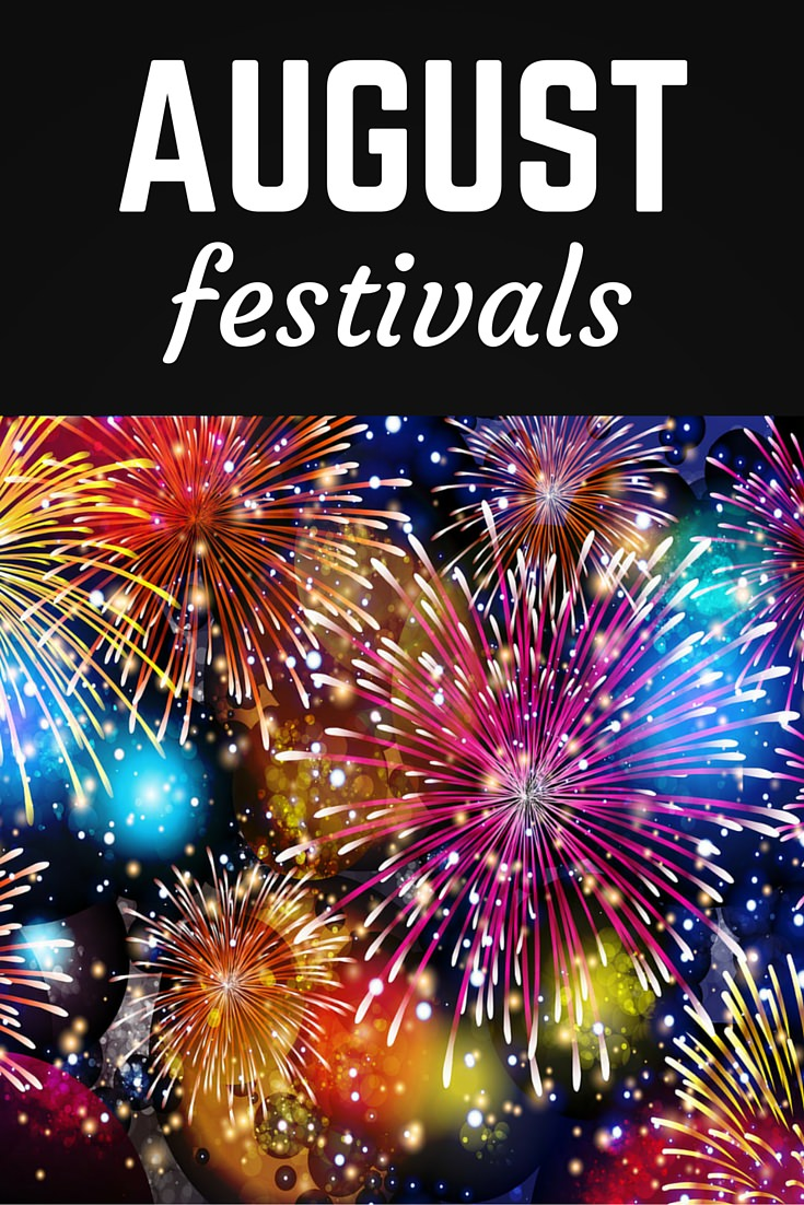 August festivals Pinterest pin