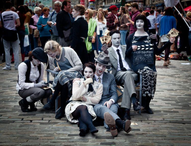 Check out the street performers at the Edinburgh Fringe festival.