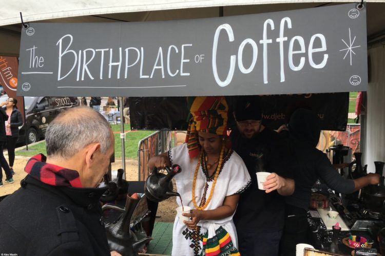Ethiopian coffee at the Aroma festival Sydney