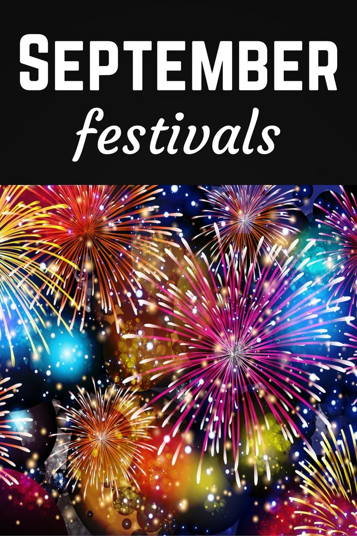 September festivals Pinterest pin