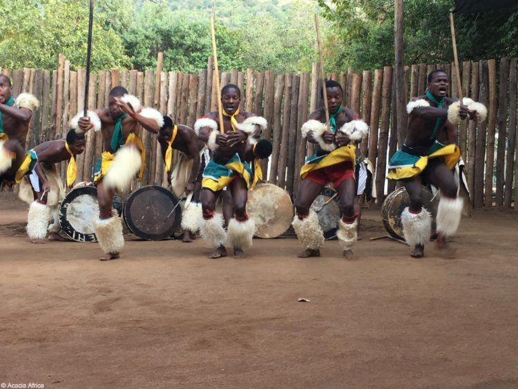 Traditional dancing in Swaziland, Africa