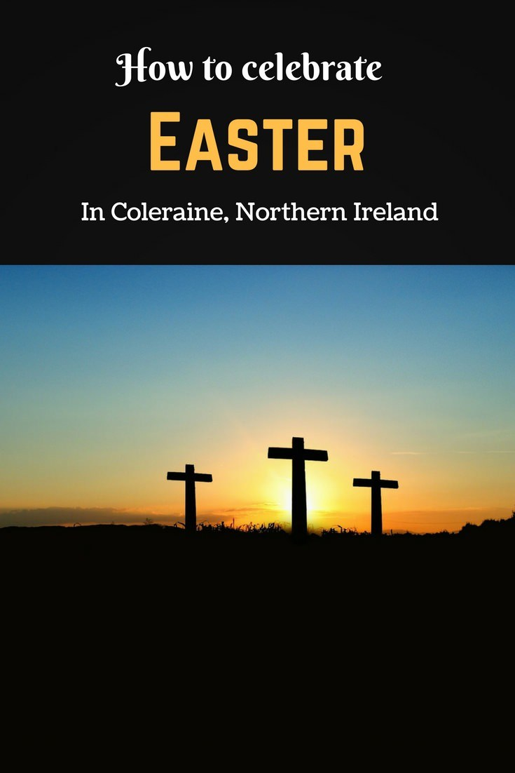 Easter in Coleraine pin