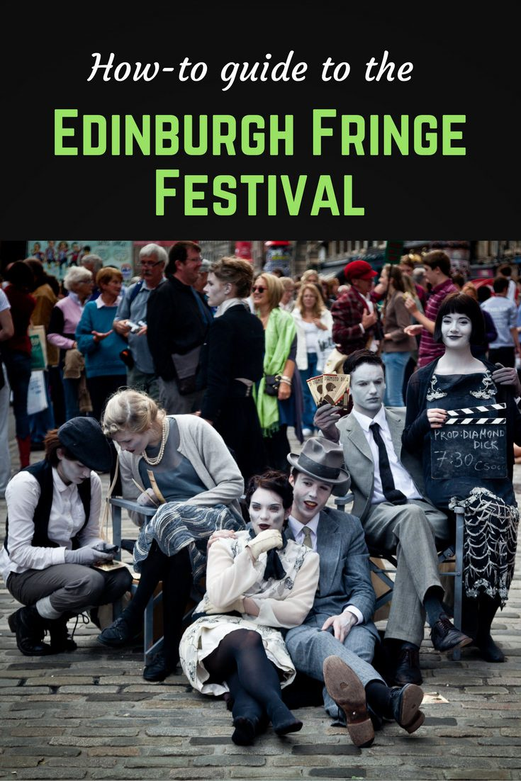 Edinburgh Fringe Festival Pinterest pin