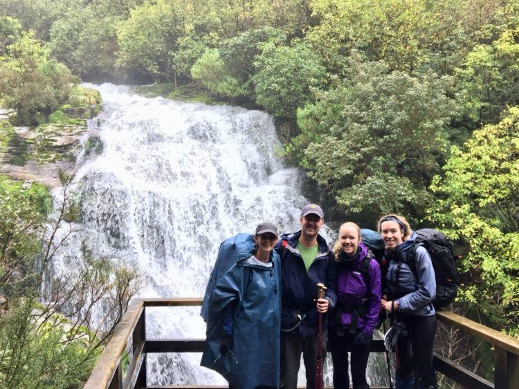 LInda, Craig, Ange and Janine on the Milford Track
