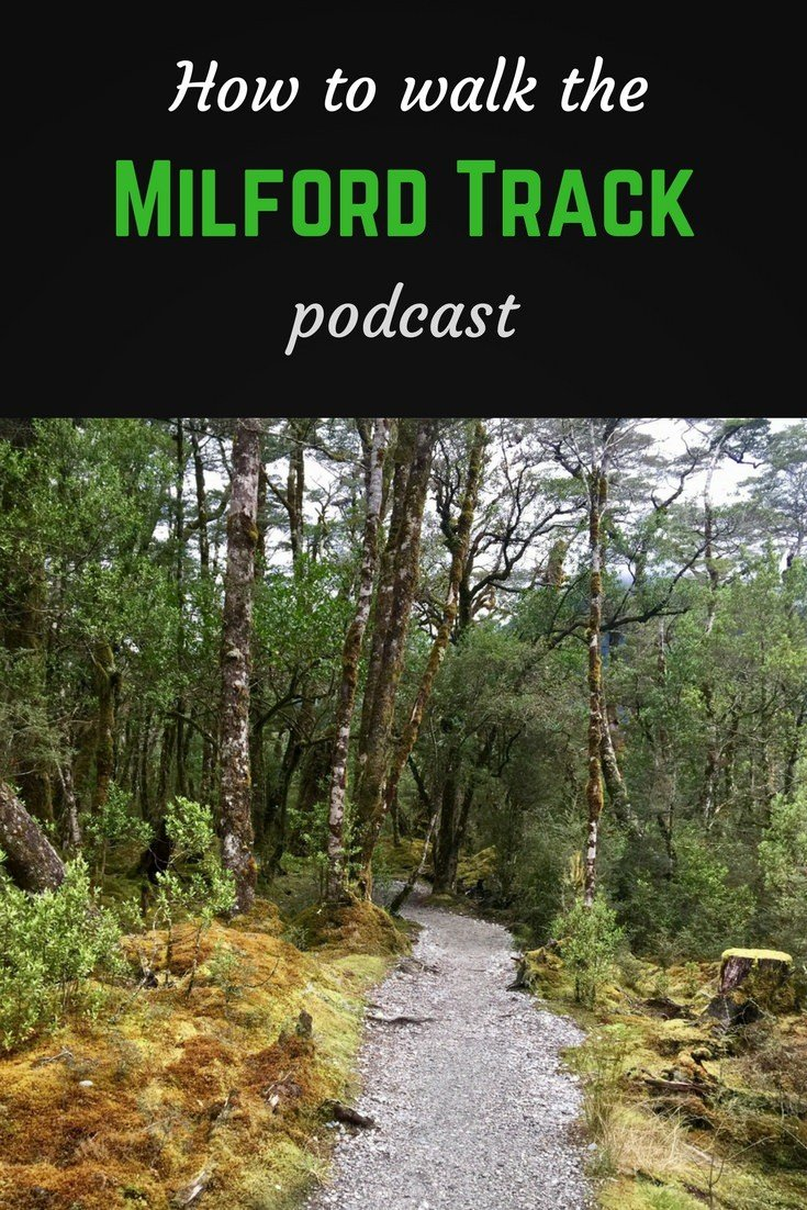Milford track podcast pinterest pin