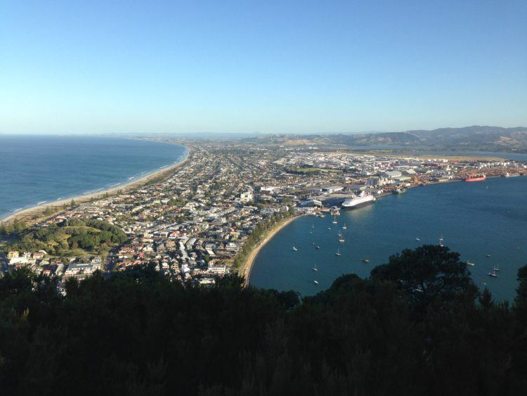 View from the top of Mt Maunganui, New Zealand