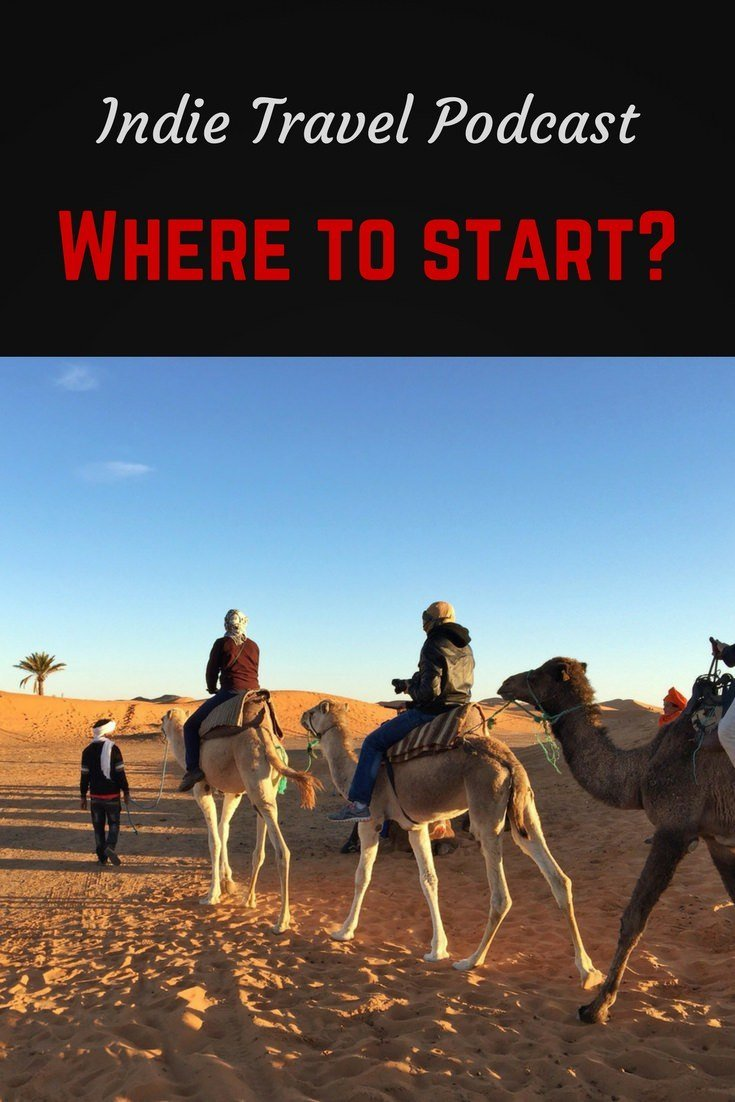 Start here Pinterest pin (with camels)