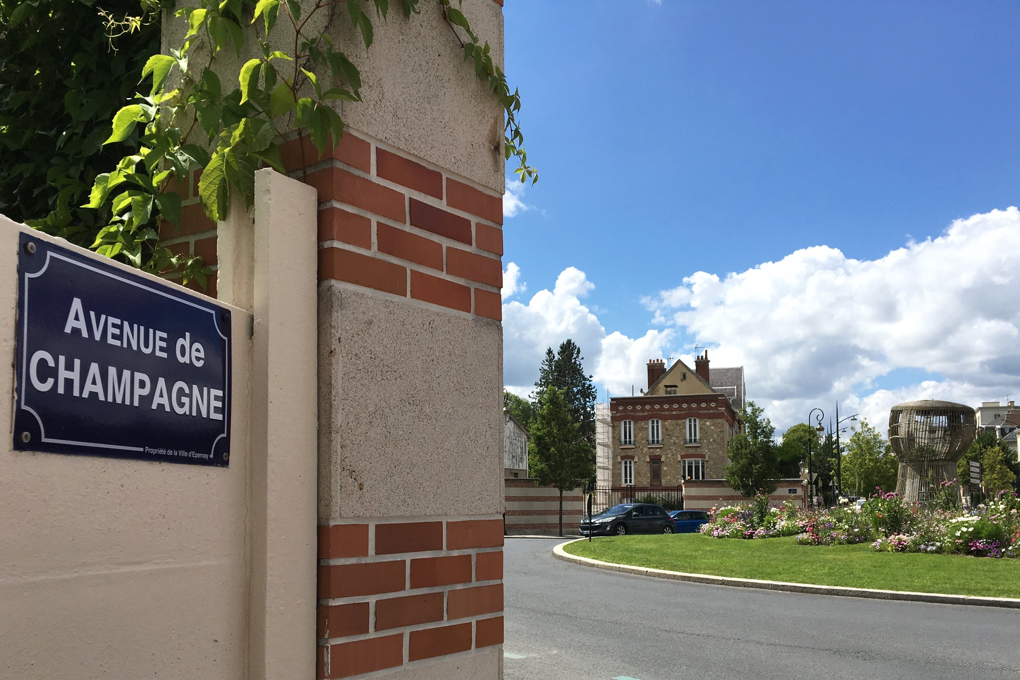 Champagne Avenue sign Epernay France