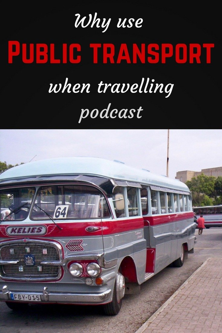 Public transport podcast pin
