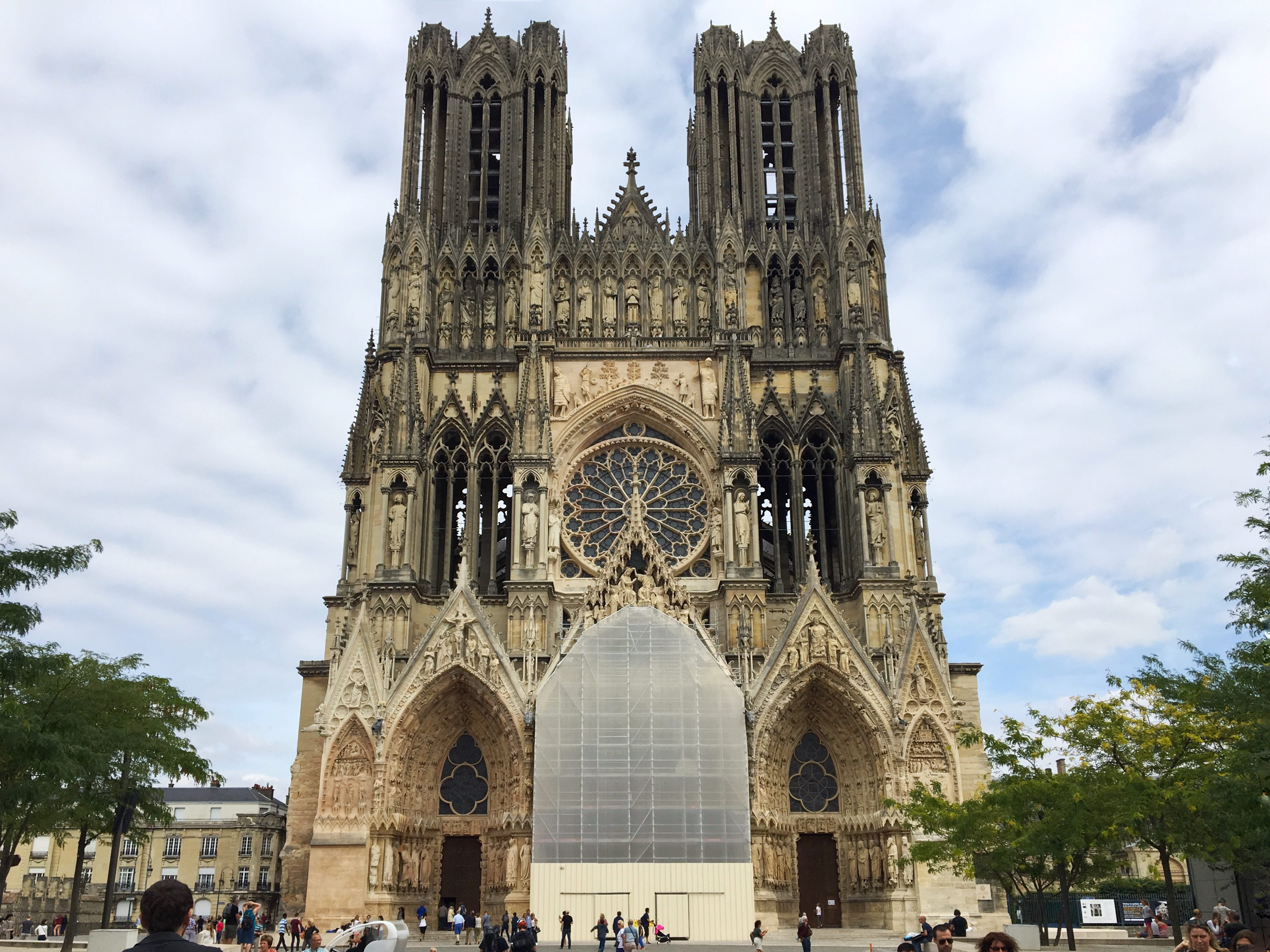 Reims cathedral Champagne France