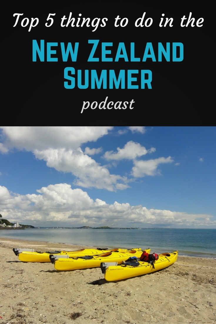 NZ summer podcast pin