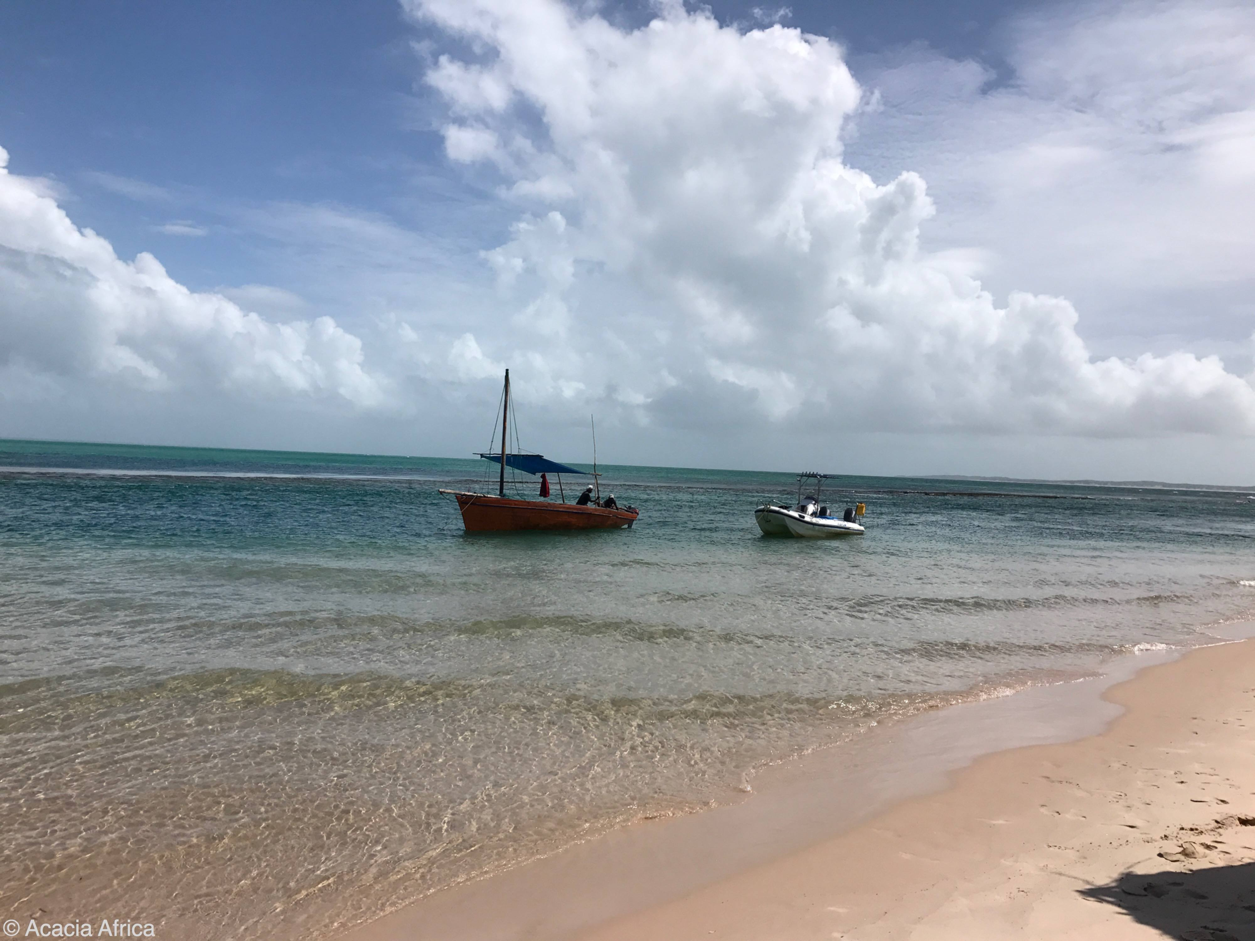 Dhow boat in Vilanculos Mozambique