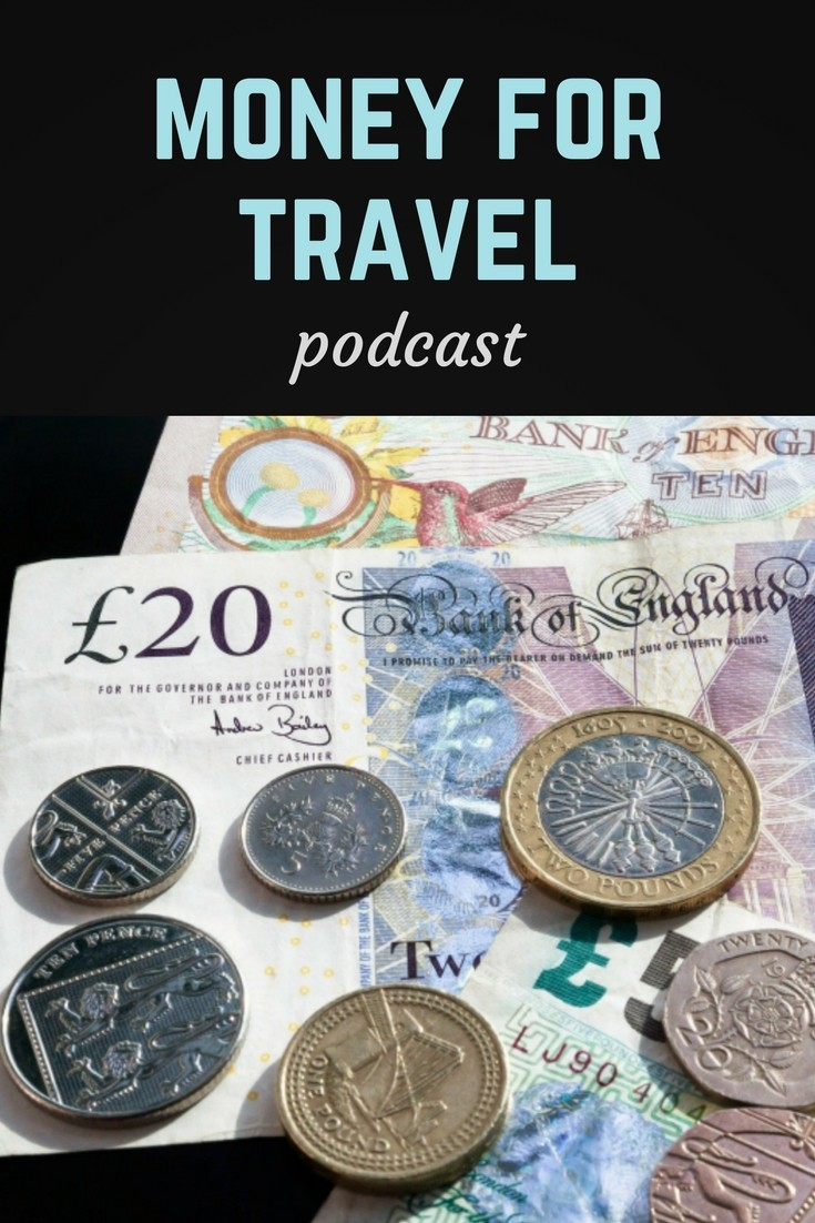 Money for travel podcast pin