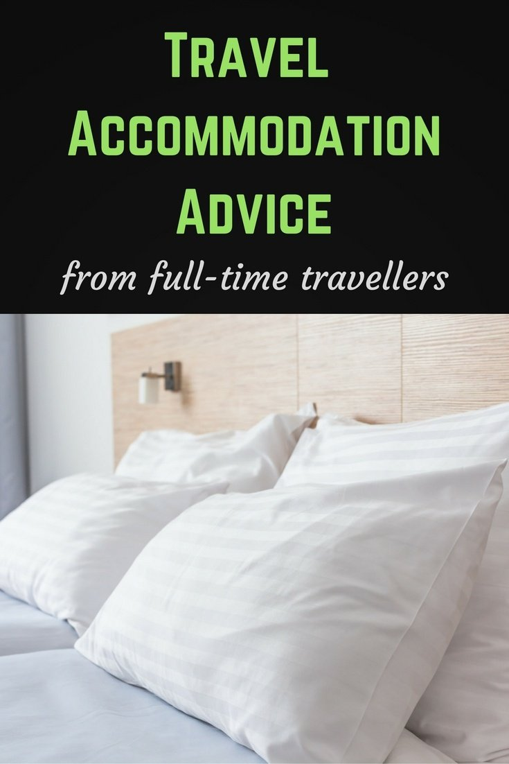 Travel accommodation pinterest pin
