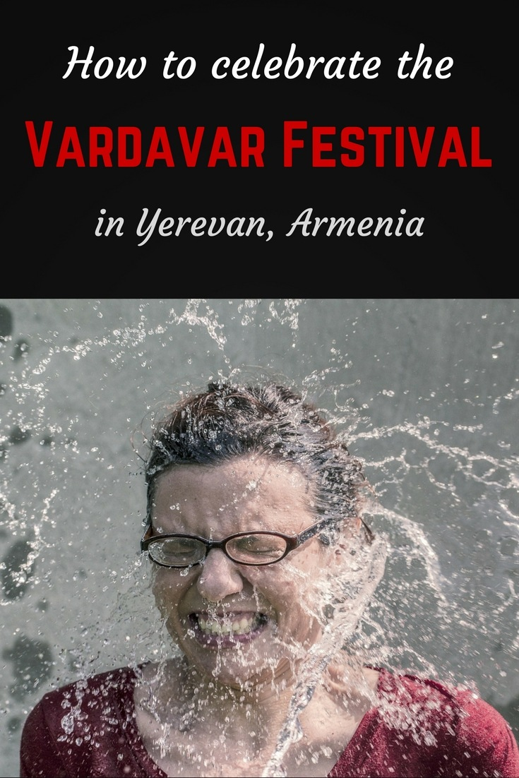 How to celebrate the Vardavar Festival in Armenia Pinterest pin