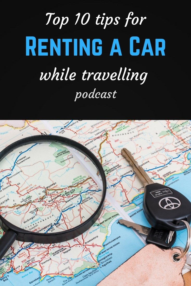 Car rental Pinterest pin