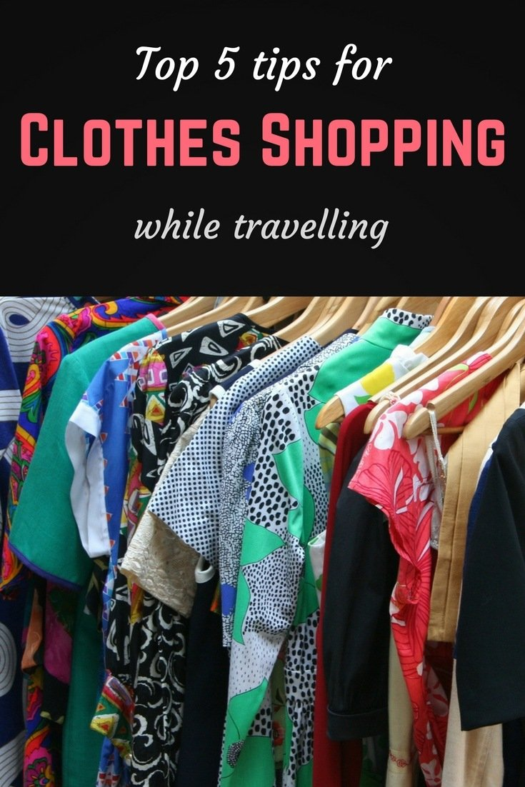 Clothes shopping Pinterest pin