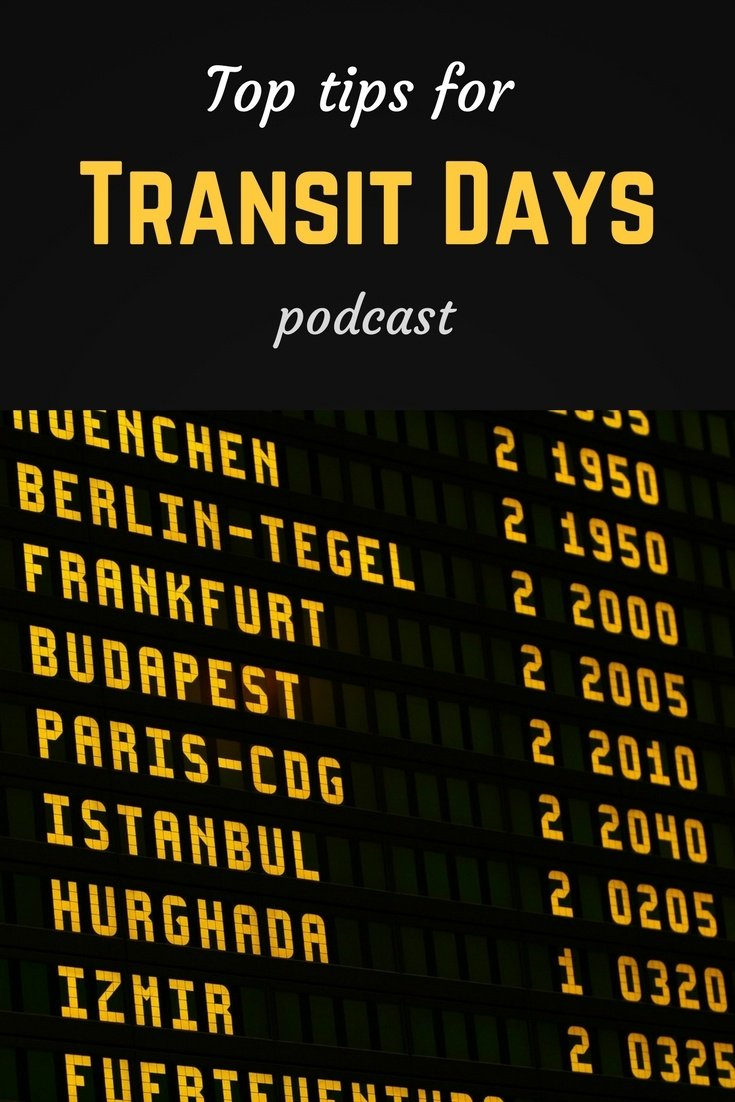 Top tips for transit days Pinterest pin