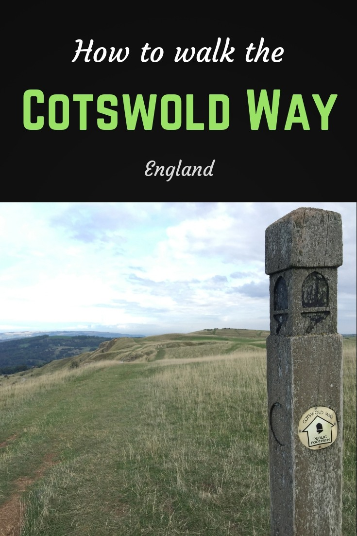 How to walk the Cotswold way Pinterest pin