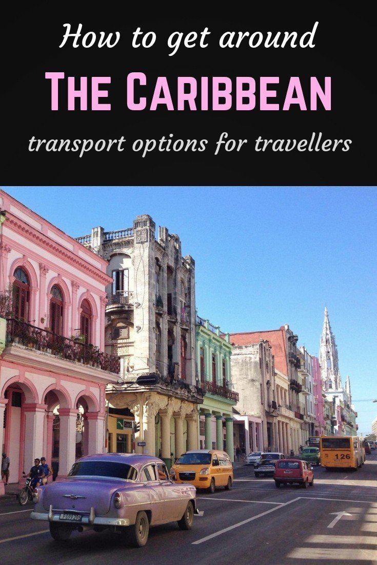 How to get around the Caribbean Pinterest pin
