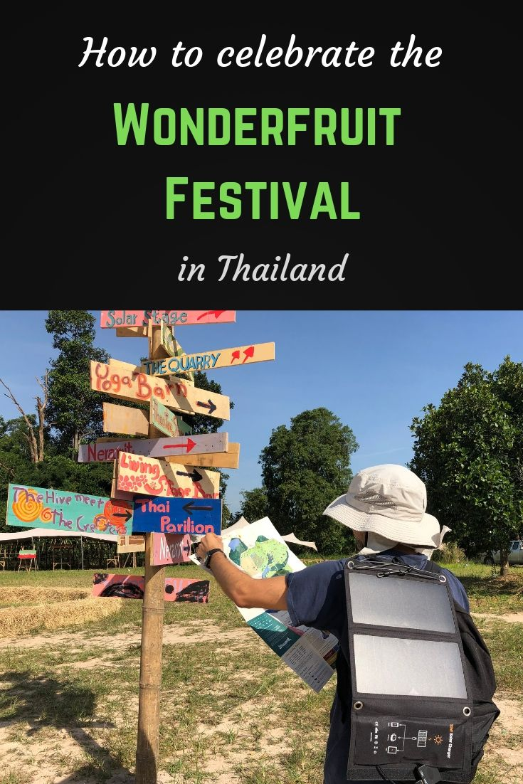 How to celebrate the Wonderfruit festival in Thailand Pinterest pin